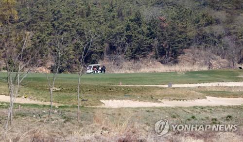 인천공항 활주로 예정지역 골프장 [연합뉴스 자료사진]