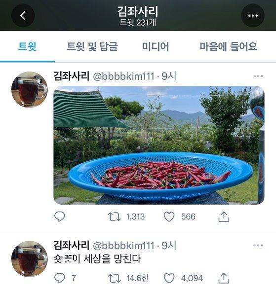 배우 김기천씨가 29일 남긴 트윗. [트위터 캡처]