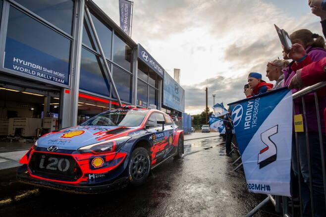 WRC에 출전한 현대차의 i20 경주차. /사진제공=현대자동차