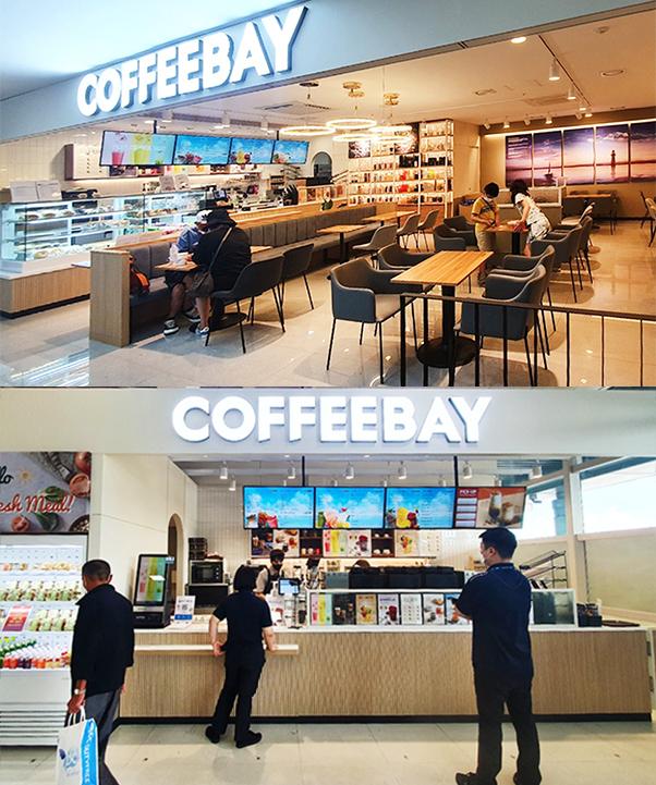 카페 프랜차이즈 커피베이가 제주국제공항 내 직영점 2곳을 동시에 개점하며 직영 사업 확장에 박차를 가하고 있다. (커피베이 제공)