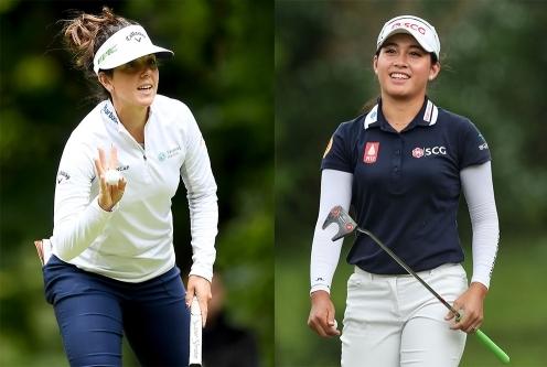 2021년 미국여자프로골프(LPGA) 투어 ISPS 한다 월드 인터내셔널 골프대회에서 우승 경쟁한 엠마 톨리(미국)와 아타야 티티쿨(태국). 사진제공=Getty Image