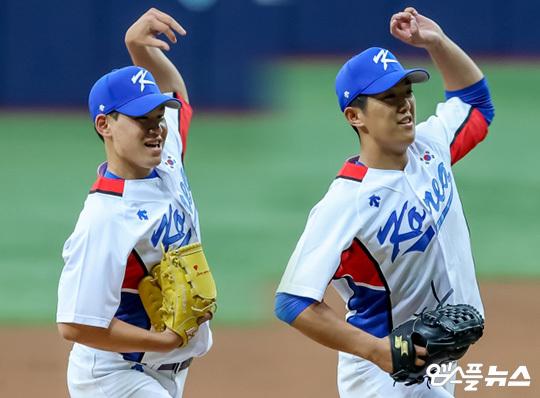 김진욱과 이의리 발굴은 이번 올림픽 대표팀의 수확이다(사진=엠스플뉴스 김도형 기자)