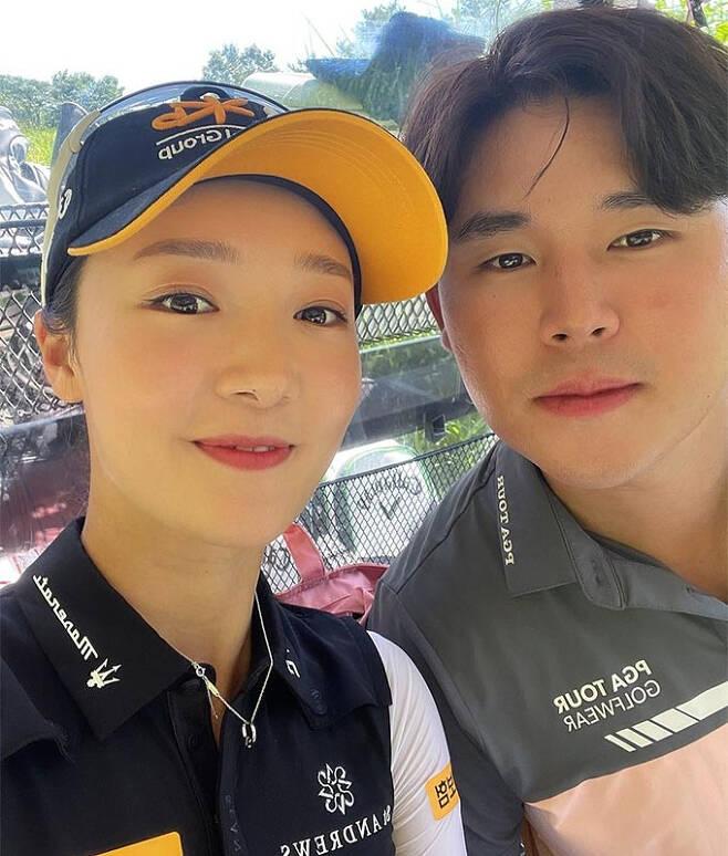 골프선수 오지현(왼쪽), 김시우(오른쪽)/사진=김시우 인스타그램
