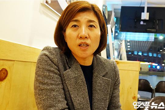 한국 여자배구 전설 장윤희 해설위원(사진=엠스플뉴스)