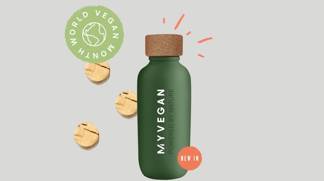 식물성 재료로 만든 비건 플라스틱 병인 에코보틀. 출처=MyVegan UK