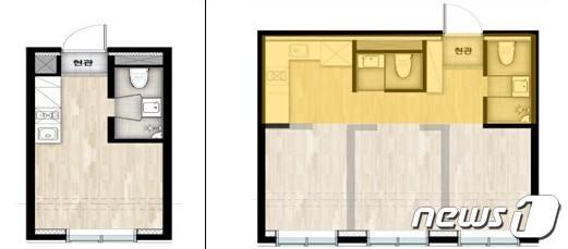 공간구성 완화되는 도시형생활주택. © 뉴스1
