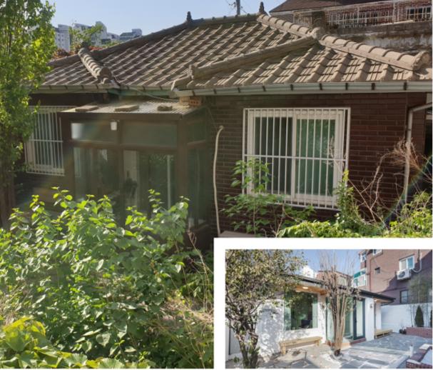 지난해 11월 공사를 마친 집의 전(큰 사진)과 후의 모습. 일상공간 제공