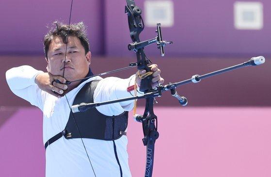 도쿄올림픽에서 단체전 금메달을 따낸 오진혁. [연합뉴스]