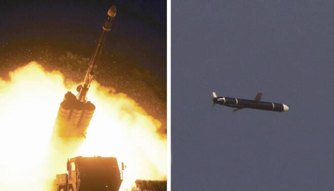 북한 국방과학원이 지난 11일과 12일에 시험발사를 성공적으로 진행했다고 밝힌 신형 장거리 순항미사일. 연합뉴스
