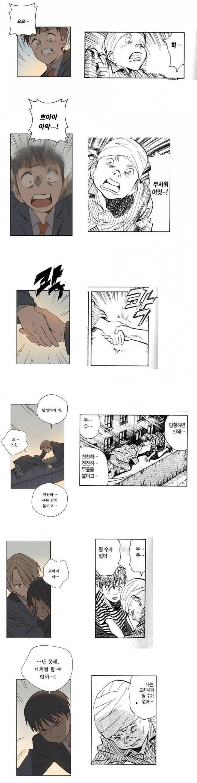 웹툰 '뜨거운 양철지붕 위의 고양이'(왼쪽)과 일본 만화 '몬스터'의 한 장면(오른쪽). 독자들로 하여금 표절에 대한 강한 의구심을 야기한 장면이다. /온라인 커뮤니티