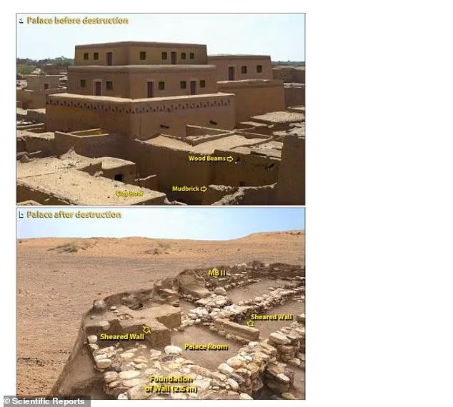 연구진은 사해에서 북동쪽으로 약 14㎞ 떨어진 요르단 강 남쪽 계곡의 도시유적 탈 엘함맘에 있는 두께 약 1.5m의 불에 탄 지층에서 겉면이 녹아 유리가 된 도자기 파편과 기포가 생긴 진흙 벽돌 그리고 부분적으로 녹아내린 건축 자재 등을 발견했다.(사진=사이언티픽 리포트)
