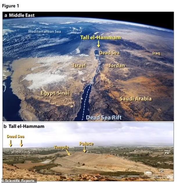 이번 연구에 따르면, 소행성 공중 폭발로 탈 엘함맘은 물론 궁전과 주변 성벽은 평지가 됐다.(사진=사이언티픽 리포트)