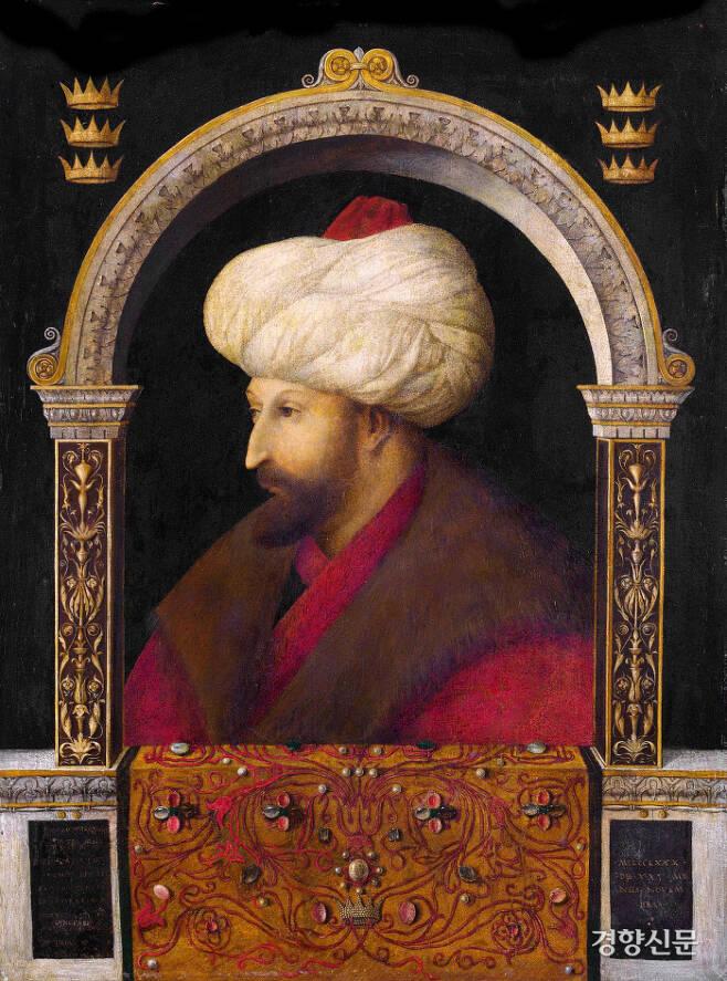 젠틸레 벨리니의 '메흐메트 2세의 초상'. 메흐메트 2세는 무슬림 군대를 이끌고 콘스탄티노폴리스(오늘날의 이스탄불)를 함락했다. 베네치아 출신이 화가 젠틸레 벨리니가 메흐메트 2세의 초상화를 그렸다. 도서출판 길 제공