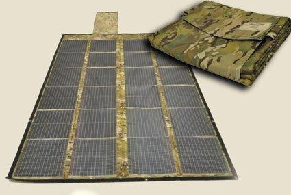 미 육군의 접이식 태양 전지. 미 육군