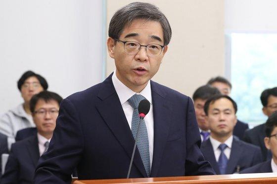 권순일 전 대법관의 중앙선거관리위원장 시절 모습. 뉴스1