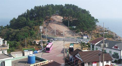전남 여수시에 설치된 해안초소 인근 전경 /여수시