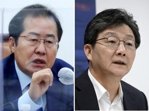홍준표 국민의힘 의원, 유승민 전 국민의힘 의원. 연합뉴스 서울신문