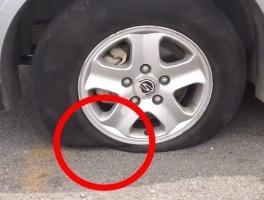 타이어 공기를 모두 다 빼고 달리면 무슨 일이 일어날까