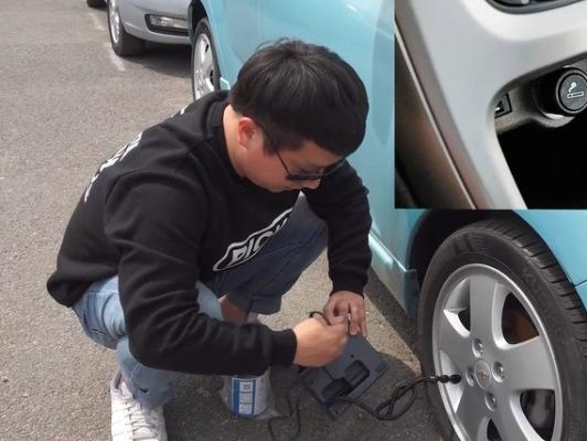 타이어 펑크, 스페어 타이어는 이제 없다 타이어 수리 키트 사용 방법